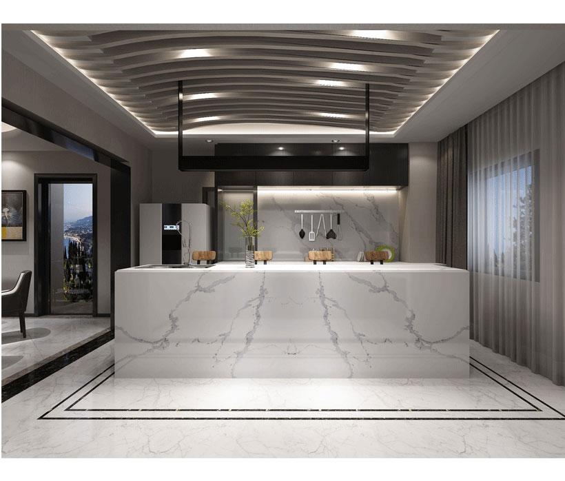 Calacatta White Quartz Countertops