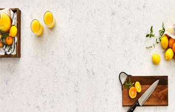 Carrara White Quartz Countertop