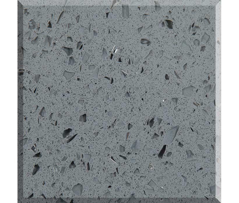 Crystal Light Grey Quartz  Stone Surfaces China