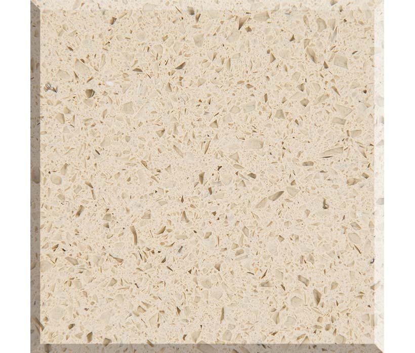 Quartz Stone Crystal Beige Color Factory