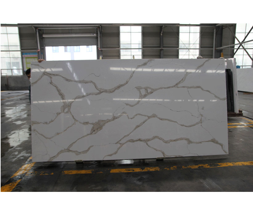 Factory Calacatta Gold Veins Quartz Stone Slabs