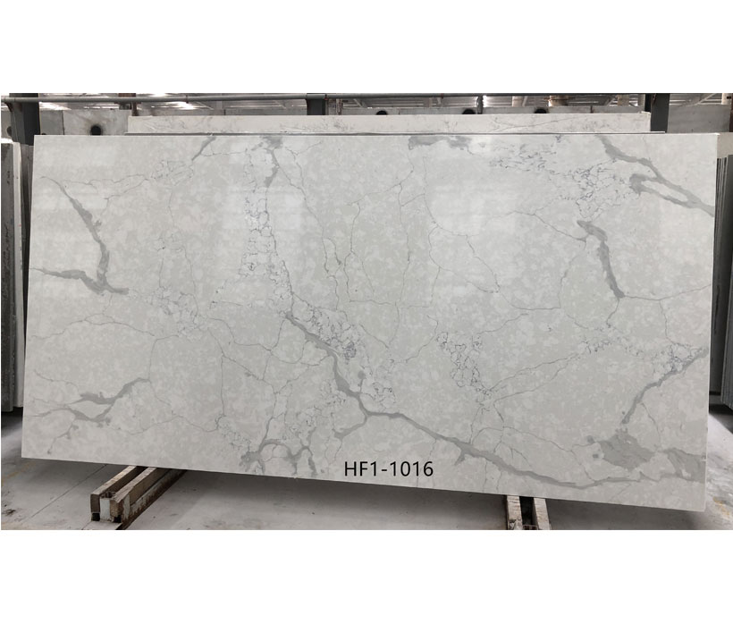 Exporter China Calacatta Gery Color Quartz Stone